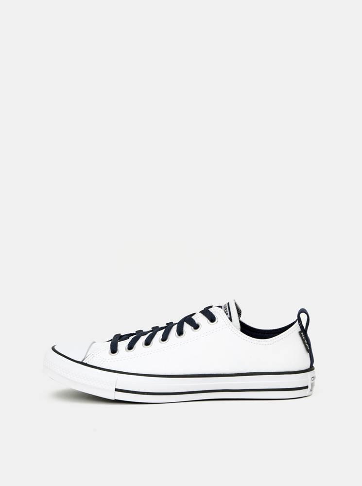 Converse Biele pánske kožené tenisky Converse