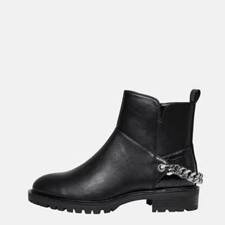 Čierne členkové topánky ONLY Tina