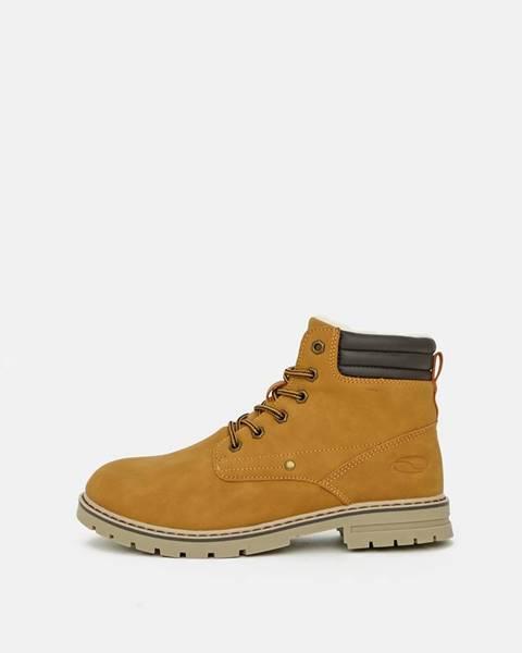 Horčicová zimná obuv loap