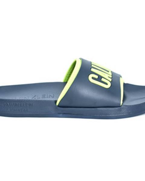 Modré topánky Calvin Klein Jeans