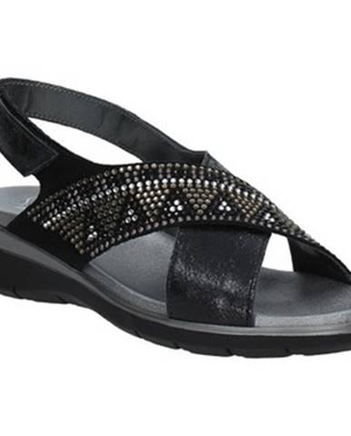 Čierne sandále Soffice Sogno