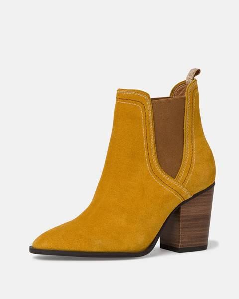 Horčicové topánky Tamaris