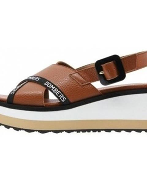 Hnedé sandále Dombers