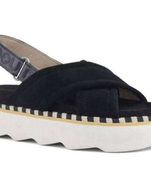 Čierne sandále Mou