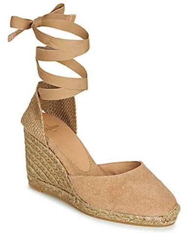 Béžové sandále Castaner