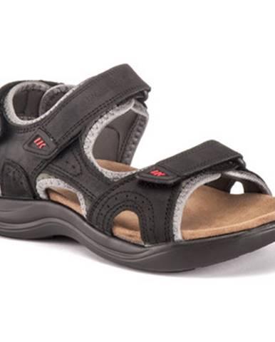 Čierne športové sandále Lumberjack