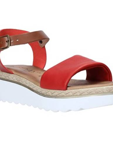 Červené sandále Jeiday
