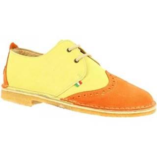Derbie Leonardo Shoes  190 ARANCIO GIALLO