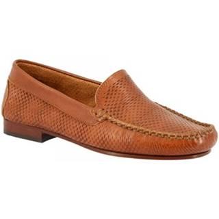 Mokasíny Leonardo Shoes  2803 VITELLO CUOIO