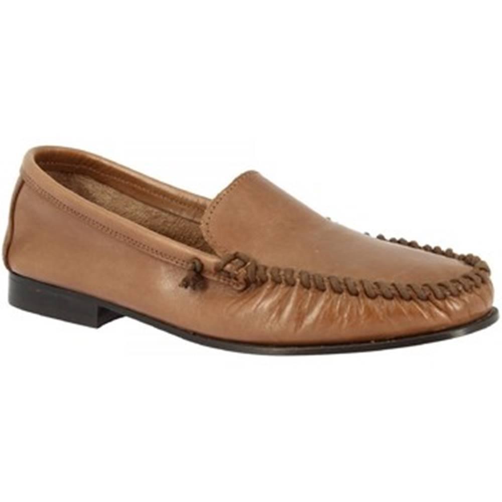 Leonardo Shoes Mokasíny Leonardo Shoes  1303 VITELLO CAPPUCCINO