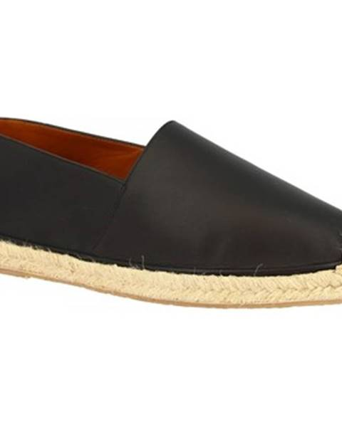 Čierne espadrilky Leonardo Shoes
