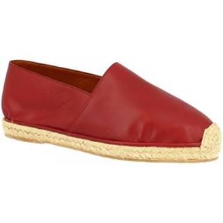 Espadrilky Leonardo Shoes  UOMO FLEX VITELLO ROSSO