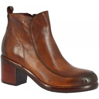 Polokozačky Leonardo Shoes  35165/8 BIS PAPUA MARRONE