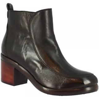 Polokozačky Leonardo Shoes  35165/8 BIS PAPUA NERO