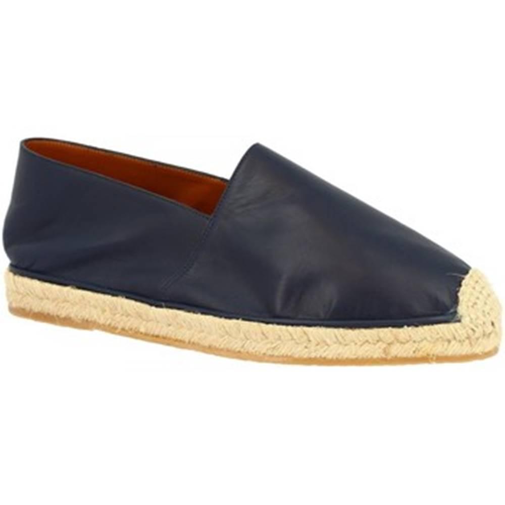 Leonardo Shoes Espadrilky Leonardo Shoes  UOMO FLEX VITELLO BLU
