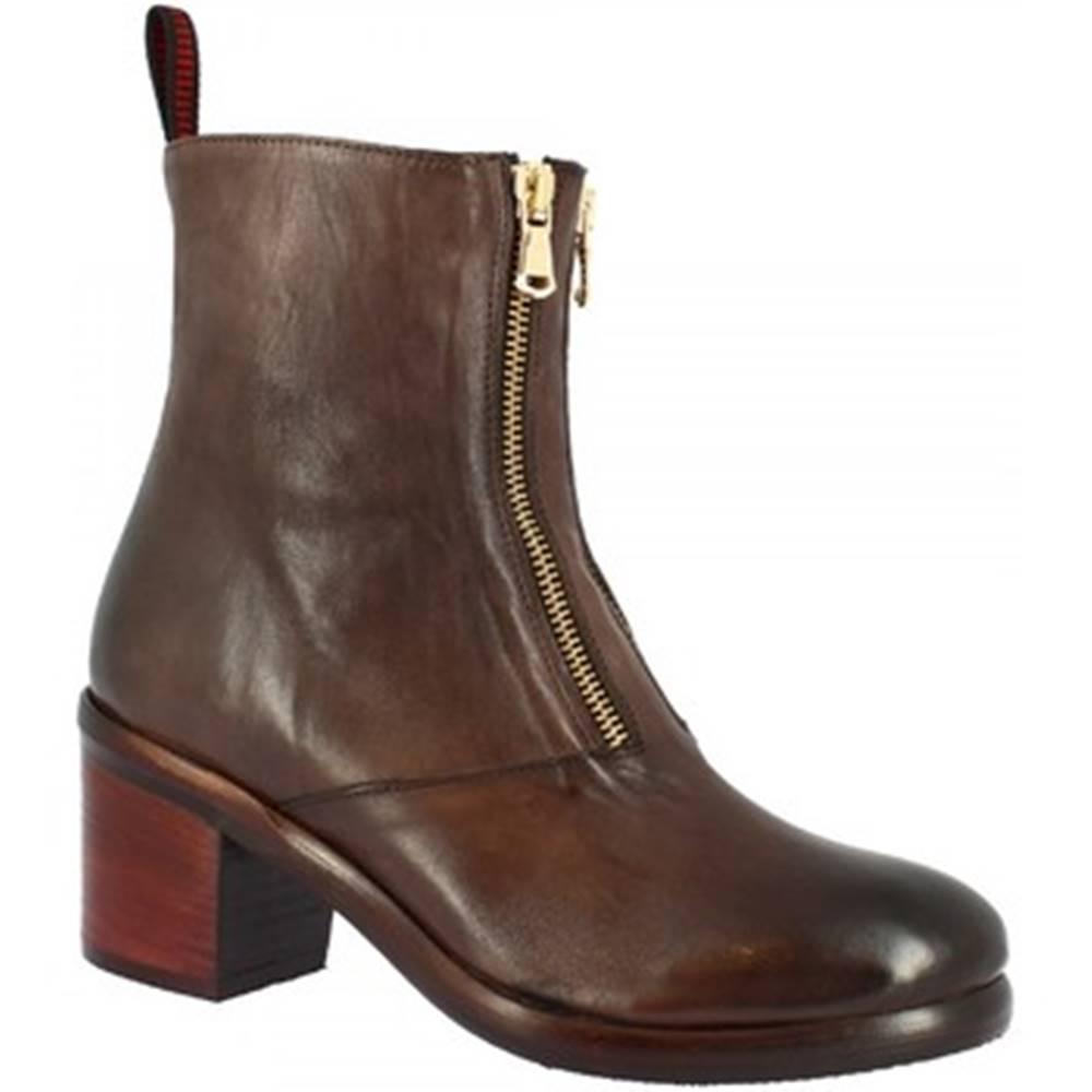 Leonardo Shoes Polokozačky Leonardo Shoes  35165/18 PAPUA BRONZATO