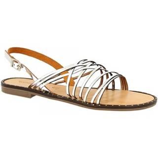 Sandále Leonardo Shoes  CAPRI ARGENTO/BEIGE