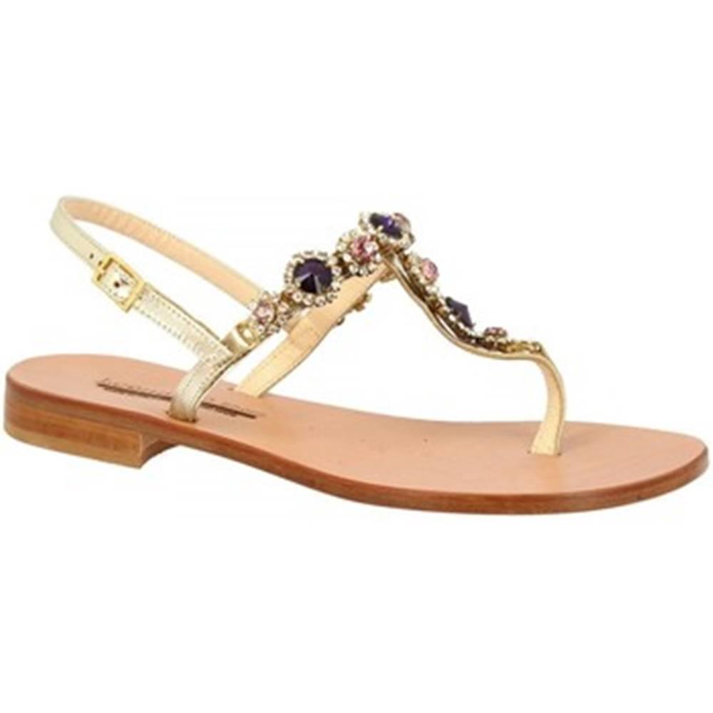 Leonardo Shoes Sandále Leonardo Shoes  E104 PLATINO/VIOLA