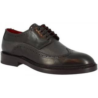 Derbie Leonardo Shoes  04758 VITELLO NERO