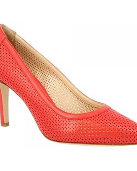 Oranžové lodičky Leonardo Shoes