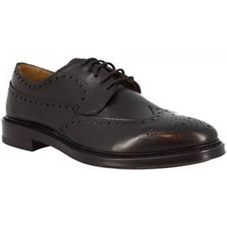 Derbie Leonardo Shoes  7197 VITELLO NERO
