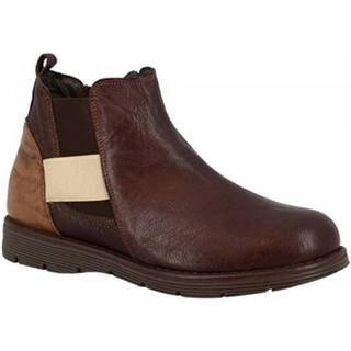 Polokozačky Leonardo Shoes  3005 T. MORO TAUPE