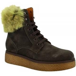 Polokozačky Leonardo Shoes  3008/1 VERDE