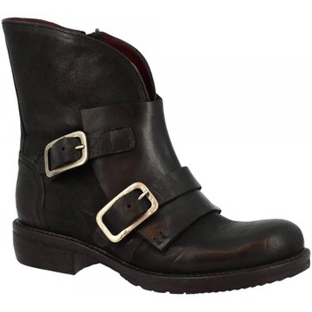 Leonardo Shoes Polokozačky Leonardo Shoes  32525/100 NERO