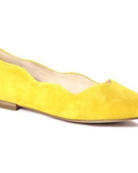 Žlté balerínky Caprice