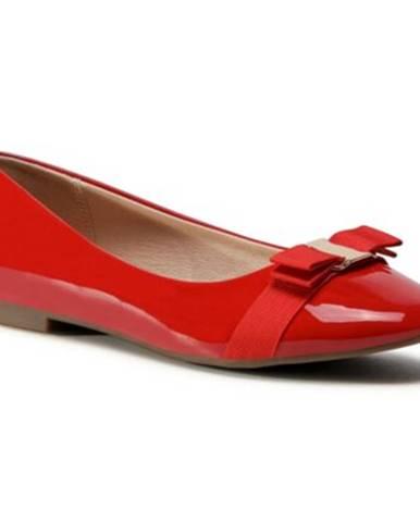 Červené balerínky Clara Barson