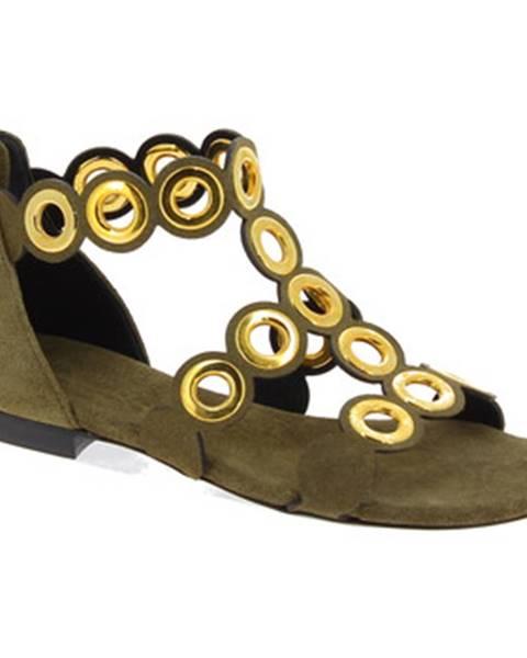 Hnedé sandále Barbara Bui