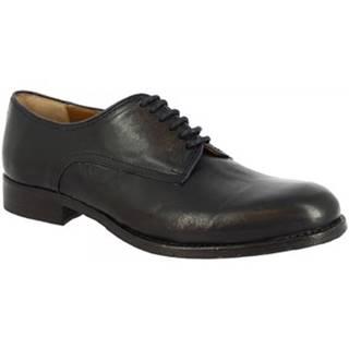 Derbie Leonardo Shoes  2500_7 PE RAG BLU/NERO