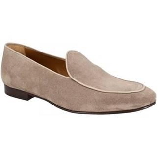 Mokasíny Leonardo Shoes  1085_7 PE CAMOSCIO TAUPE