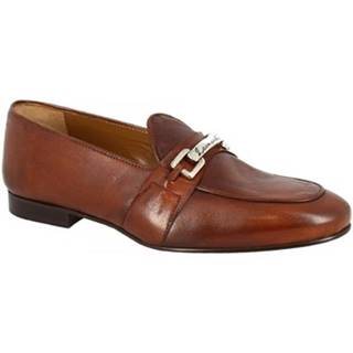 Mokasíny Leonardo Shoes  1088_7 PE SOFTY CUOIO