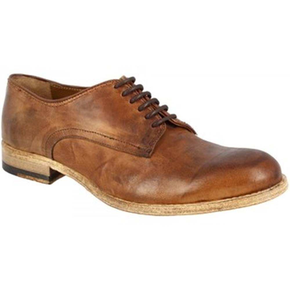 Leonardo Shoes Derbie Leonardo Shoes  2500_7 PE RAG CUOIO