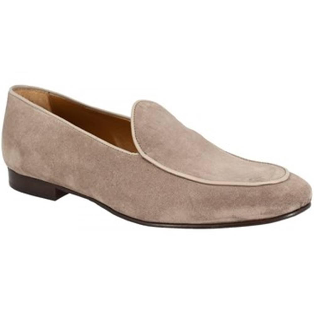 Leonardo Shoes Mokasíny Leonardo Shoes  1085_7 PE CAMOSCIO TAUPE