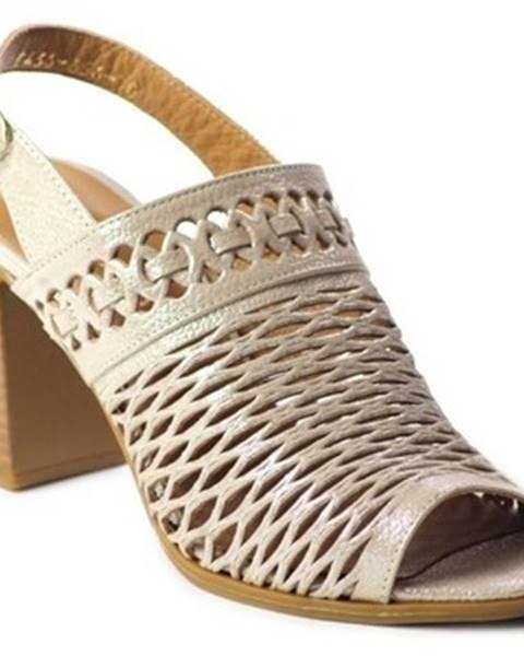 Béžové sandále Toscanio