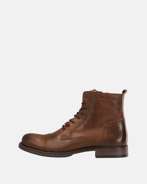 Hnedé topánky Jack & Jones
