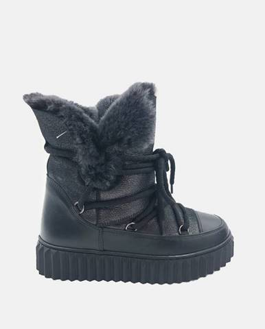 Čierna zimná obuv wild