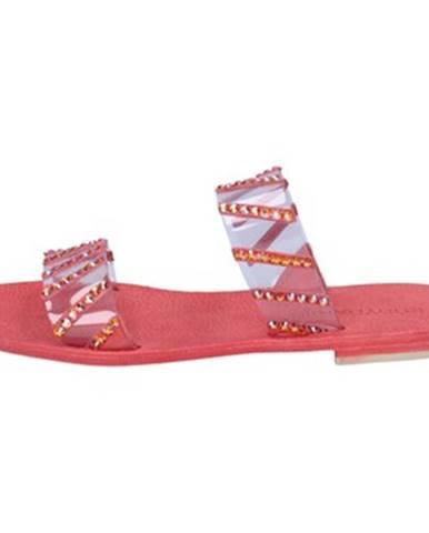 Červené sandále Eddy Daniele