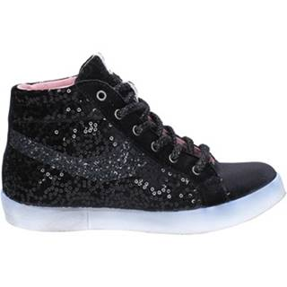 Členkové tenisky Fiori Di Picche  sneakers nero velluto paillettes BX345