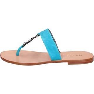 Sandále Eddy Daniele  sandali celeste camoscio swarovski ax691