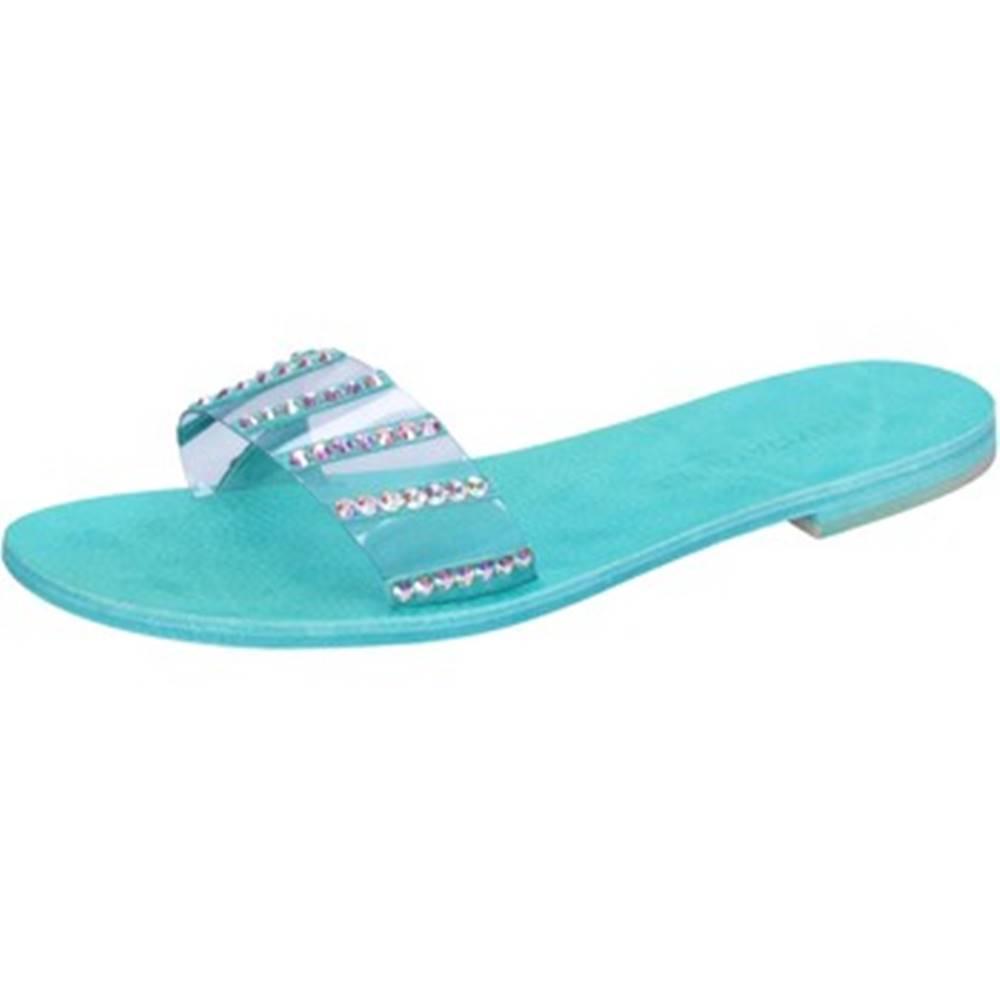 Eddy Daniele Sandále Eddy Daniele  sandali celeste plastica camoscio strass aw675