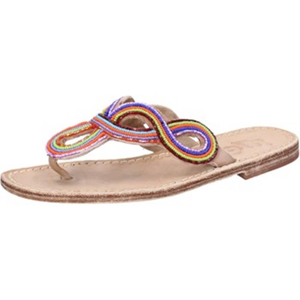 Eddy Daniele Sandále Eddy Daniele  sandali multicolor pelle perline ax895