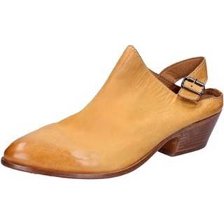 Sandále Moma  sabot sandali giallo pelle BX975