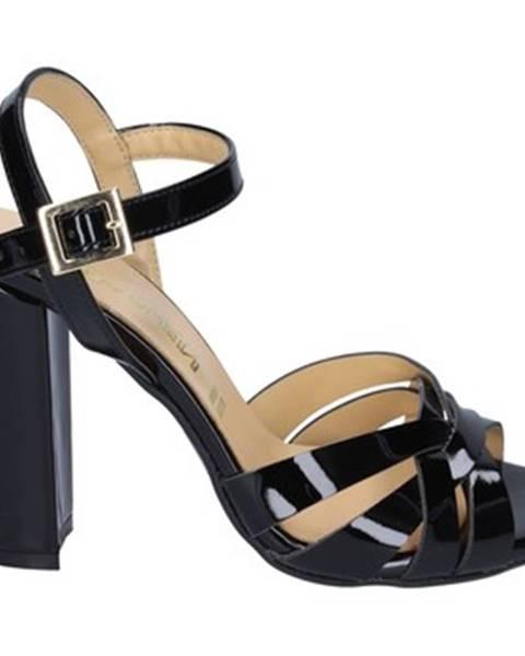 Čierne sandále Olga Rubini