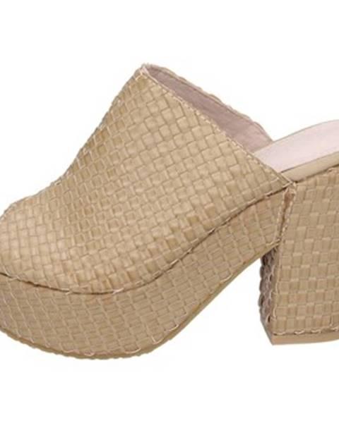 Béžové sandále Sara Lopez