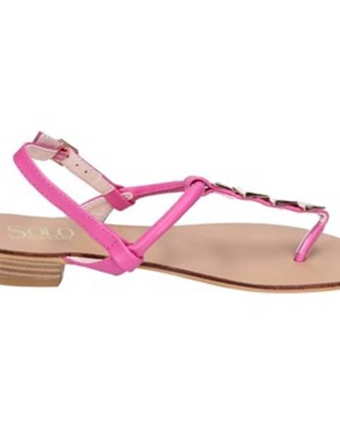Ružové sandále Solo Soprani
