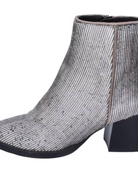 Strieborné topánky Elvio Zanon
