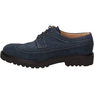 Nízka obuv do mesta Evoluzion  classiche blu camoscio AD260
